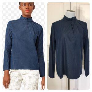 Kate Spade Saturday denim blouse